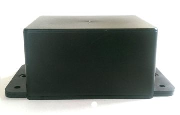 Black ABS Box with Base and Mounting flanges (YN37)